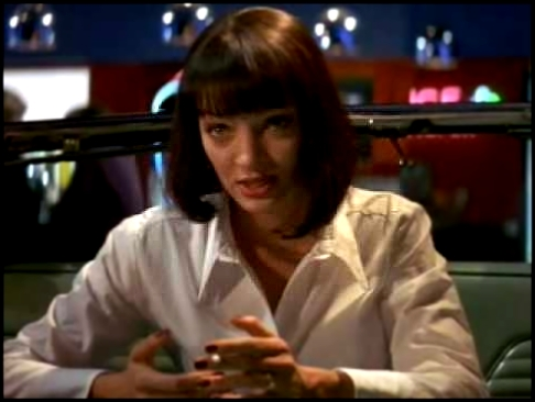 Pulp Fiction - the 'Jack Rabbit Slims' restaurant scene - видеоклип на песню