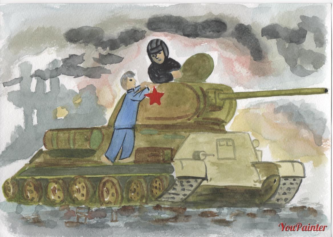 рассказ танкиста твардовского в картинках руке скрывает